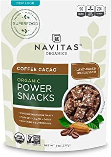 product image for Navitas Organics Superfood Power Snacks, Coffee Cacao, 8 oz. Bags (12 Pack), 11 Servings — Organic, Non-GMO, Gluten-Free, Refined Sugar-Free