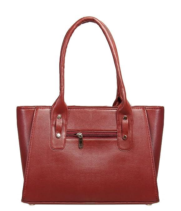 Louise Belgium Designer Handbag for Women- Maroon  Amazon.in  Shoes    Handbags d856c4c735
