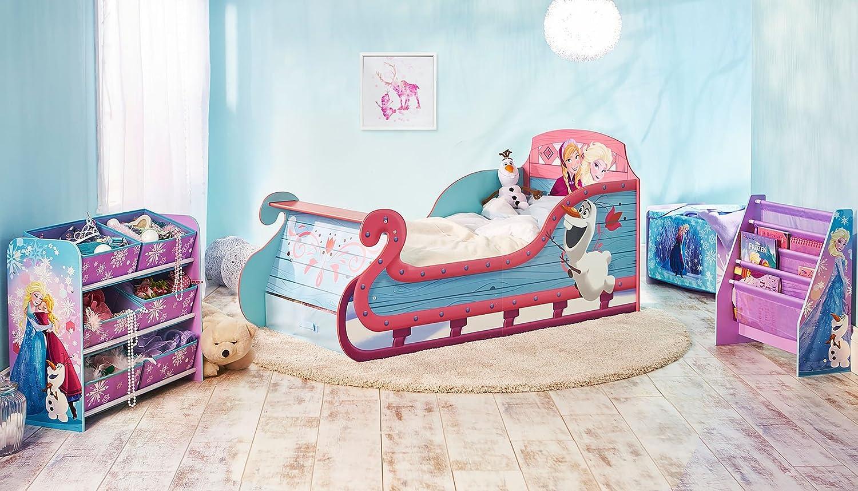 Lit Pour Enfants Traineau La Reine Des Neiges De Disney Avec Espace De Rangement Sous Le Lit Amazon Fr Cuisine Maison