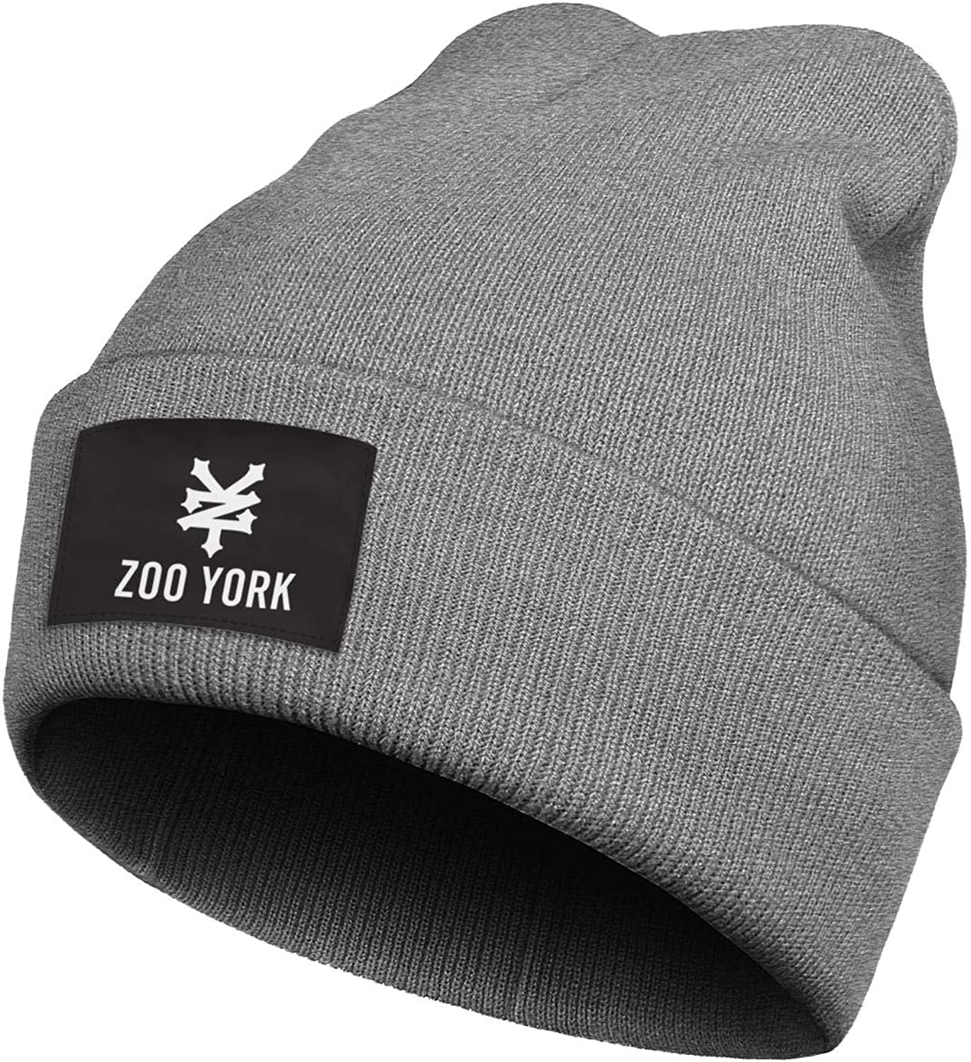 Heart Wolf Zoo-York-Logo Knit Beany Hats Thick Winter Classic Skull Hiphop Hat for Men Women