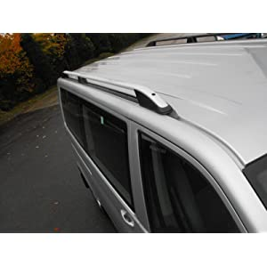 Aluminium Roof Rails Pair Roof Bars Fits VW Transporter T5 (03-15) [LWB]