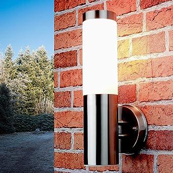 Licht-Erlebnisse - Lámpara de pared para exteriores (IP44) entrada terraza aplique de jardín: Amazon.es: Iluminación