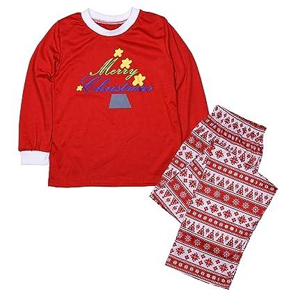 b089be019c 2. ZEVONDA famiglia albero di Natale di corrispondenza impostare manica  lunga pigiama Top Pantaloni pigiami per bambini di famiglia papà mamma:  Amazon.it: ...