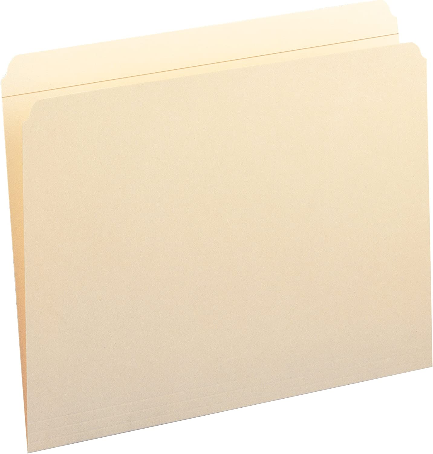 Smead File Folder, Reinforced Straight-Cut Tab, Letter Size, Manila, 100 Per Box (10310)