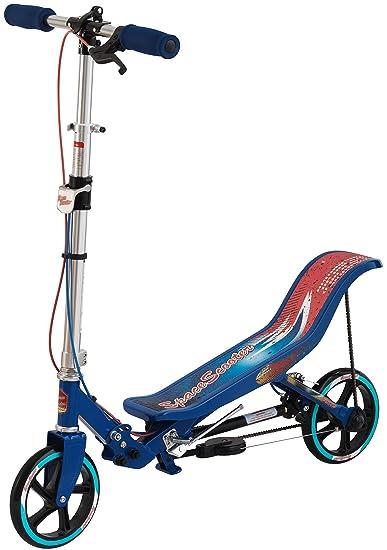 Space Scooter X580- Scooter para niños con Freno de Mano, suspensión neumática y Plegable (Azul): Amazon.es: Juguetes y juegos