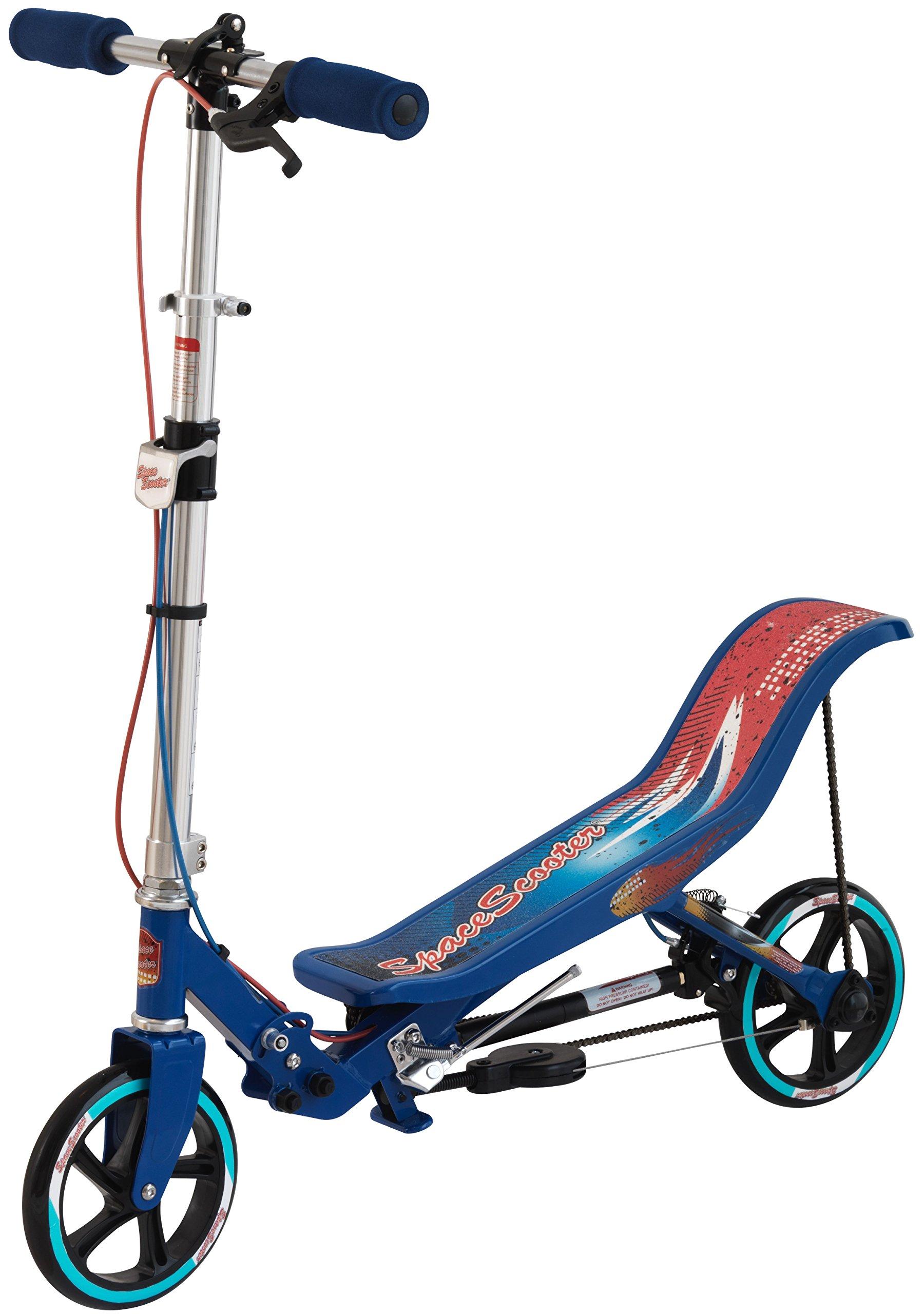 Space Scooter X580- Scooter para niños con Freno de Mano, suspensión neumática y Plegable