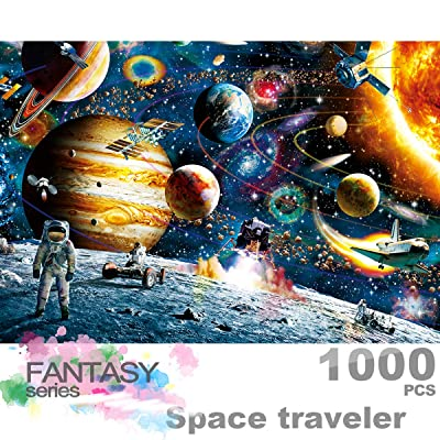 Ingooood- Jigsaw Puzzles 1000 Pieces for Adult- Fantasy Series- Space Traveler_IG-0537 Entertainment Wooden Puzzles Toys: Toys & Games