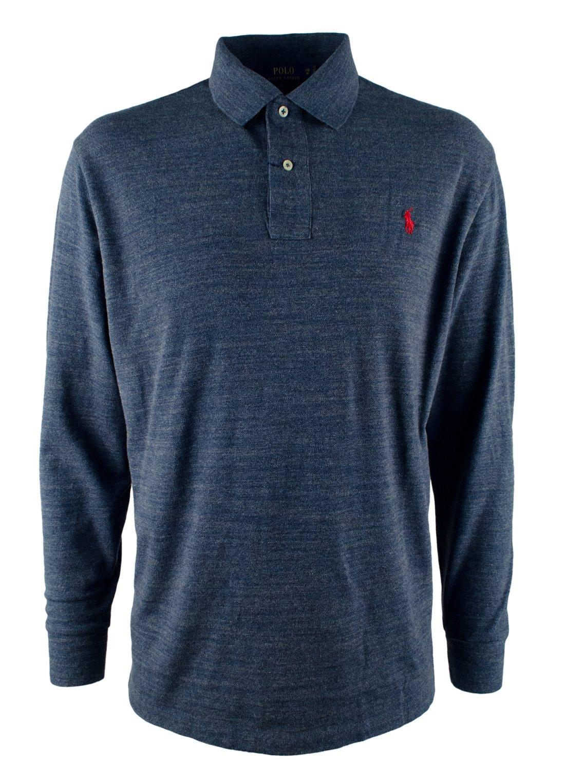Polo Ralph Lauren Men's Big & Tall Long Sleeve Mesh Polo Shirt-Blu-1XB