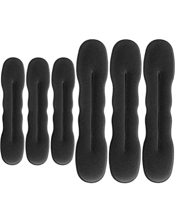 Hotop 6 Piezas Anillo de Donut de Pelo Clip de Esponja de Soporte de Pelo Actualizado
