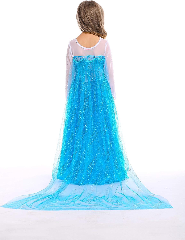 Newland Little Girls Princess Dress Costume for Christmas Birthday Halloween Party