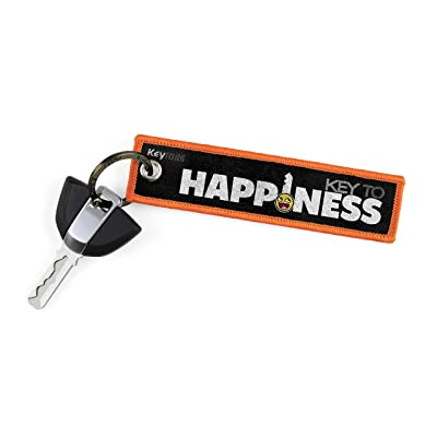 KEYTAILS Keychains, Premium Quality Key Tag for Motorcycle, Car, Scooter, ATV, UTV [Key to Happiness]: Automotive
