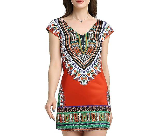 Eloise Isabel Fashion Tradicional africano Impressão Boho Vestidos femme robe plus size vestidos Sensuais