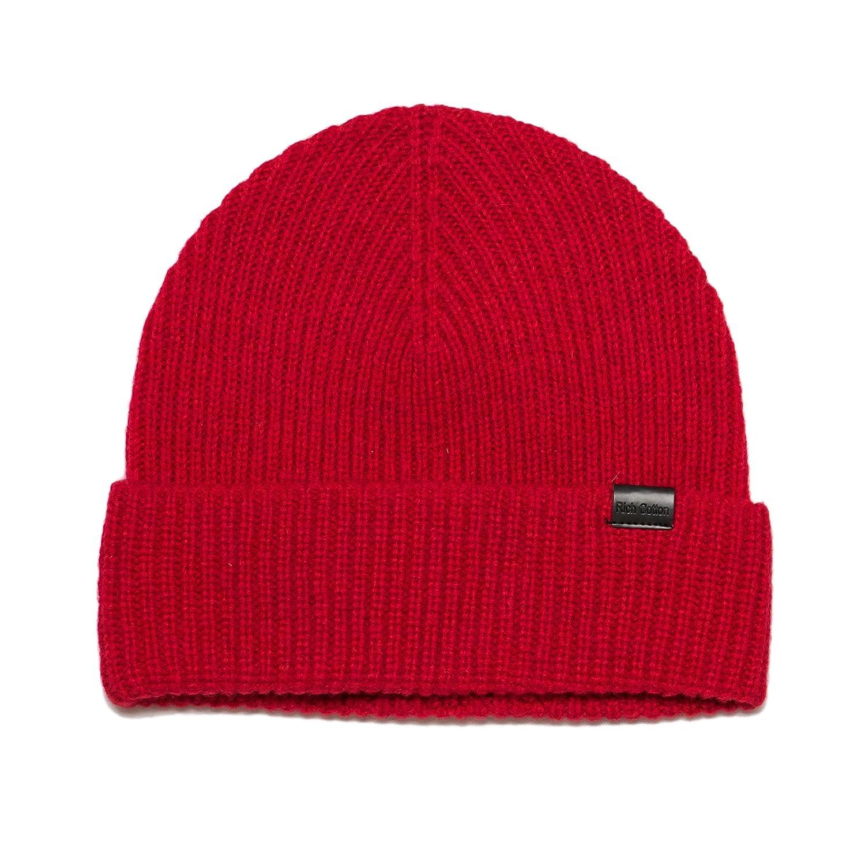 Rich Cotton Unisex Wool Beanie Hat 100% Merino Wool Daily Warm Soft Winter Hat Knit for Men Women Cap Plain Beanie for Winter Beanie (Black) beanie-black