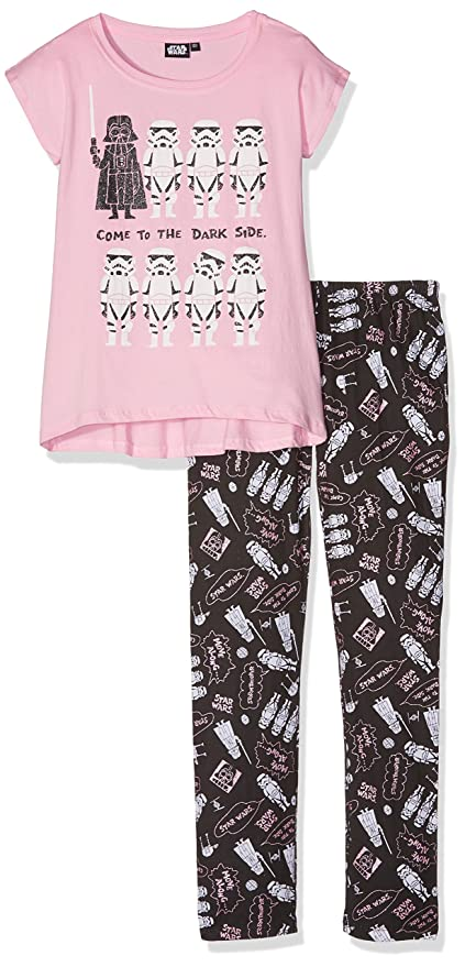 Star Wars-The Clone Wars Darth Vader Jedi Yoda Chicas Pijama - Rosa: Amazon.es: Ropa y accesorios