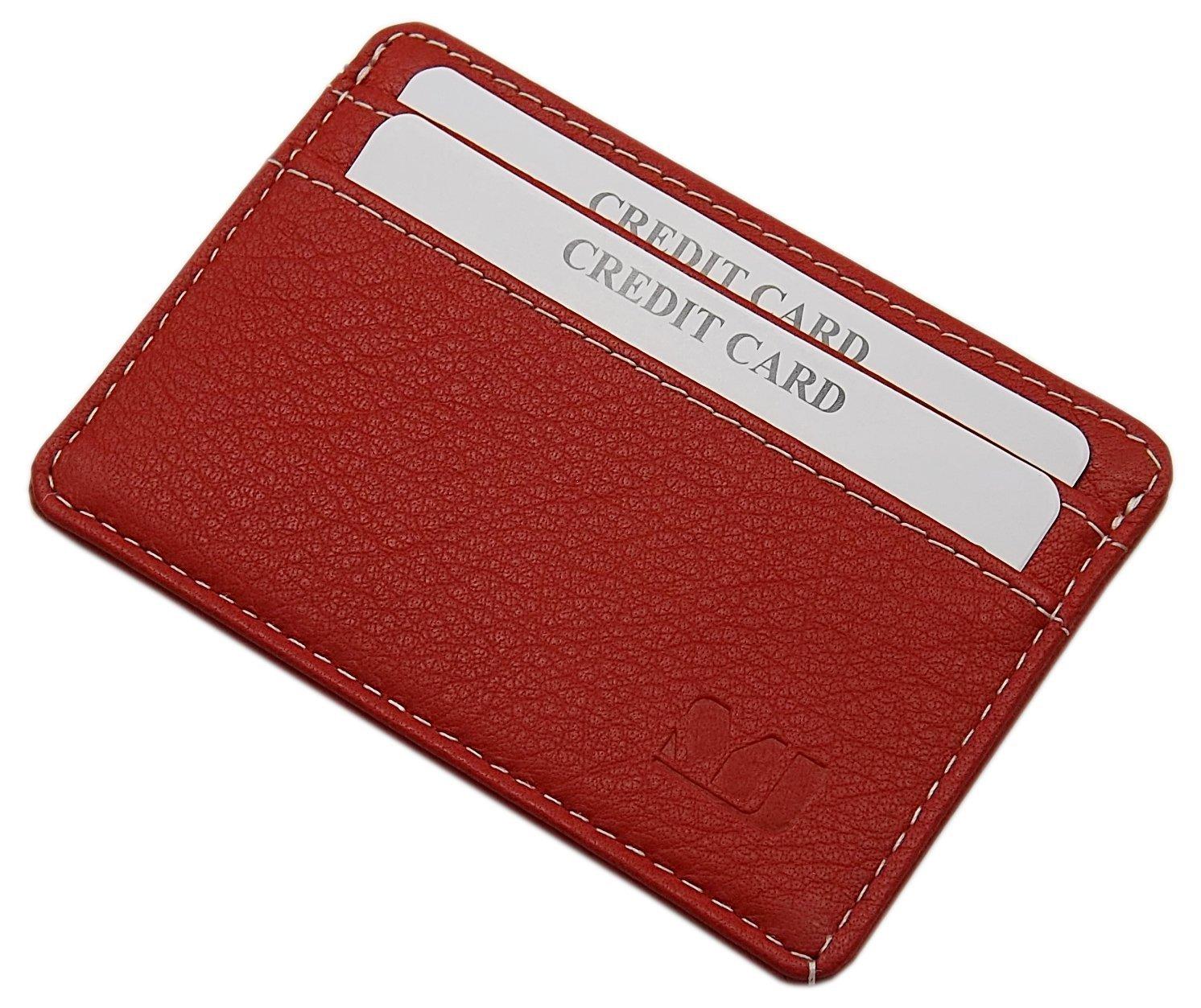 Extra plate et petit cuir de buffle porte-cartes de crédit MJ-Design-Germany en 3 différentes couleurs (Marron)