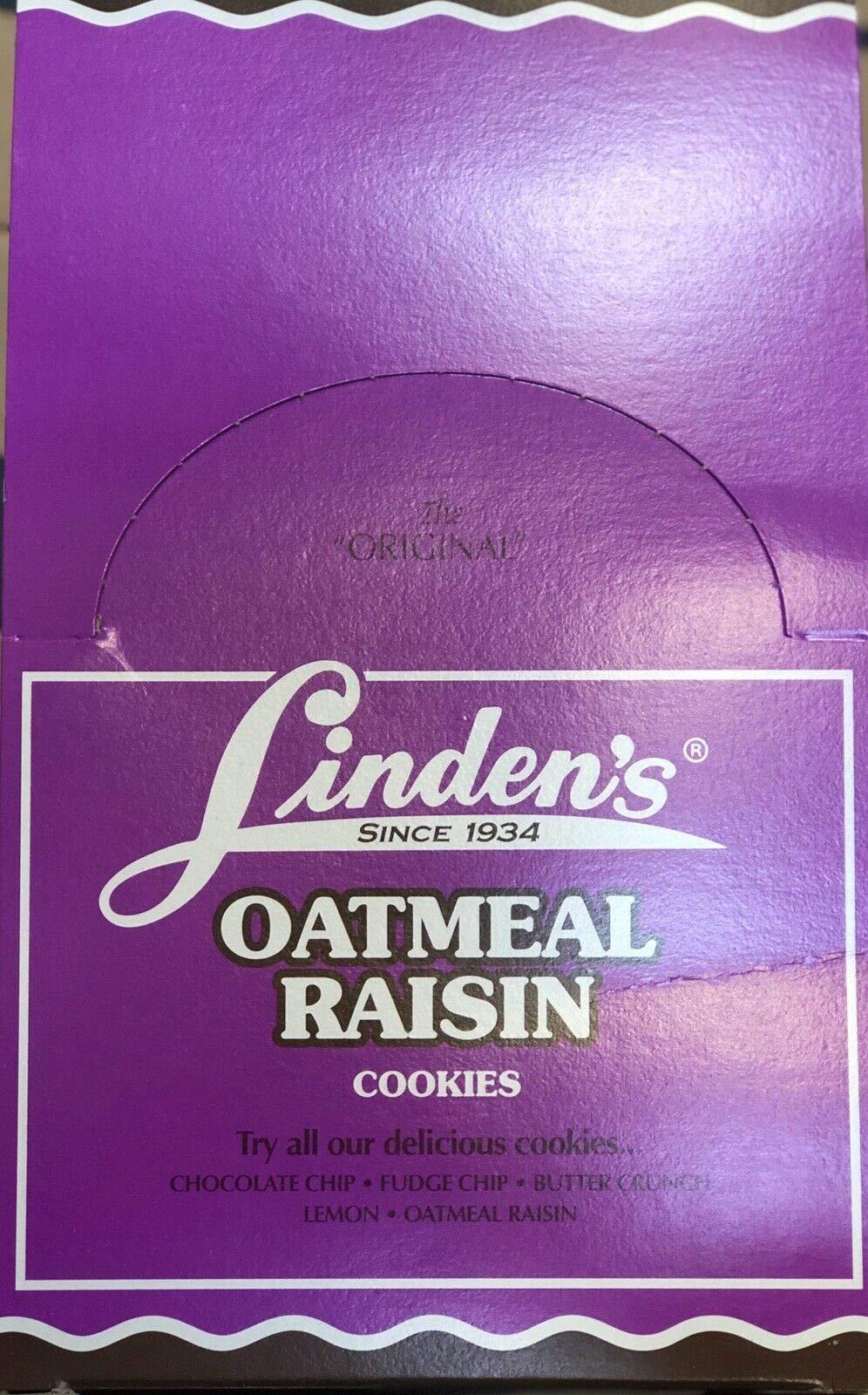 Linden's Oatmeal Raisin Cookies, 3 Cookies Per Pack, 18 Packs Per Box by Linden's Cookies