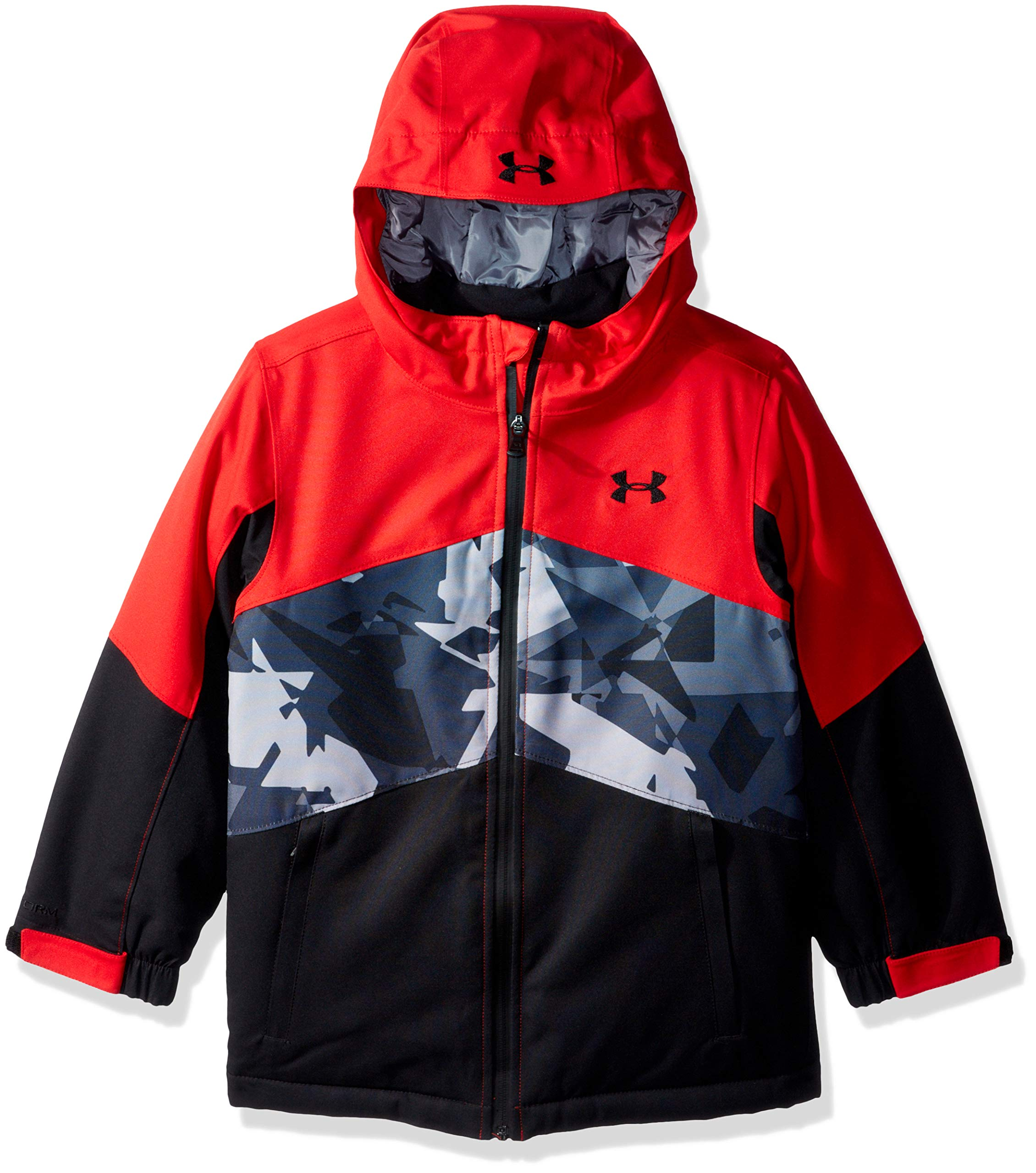 Under Armour Boys' Big Zumatrek Jacket, red, Medium (10/12)