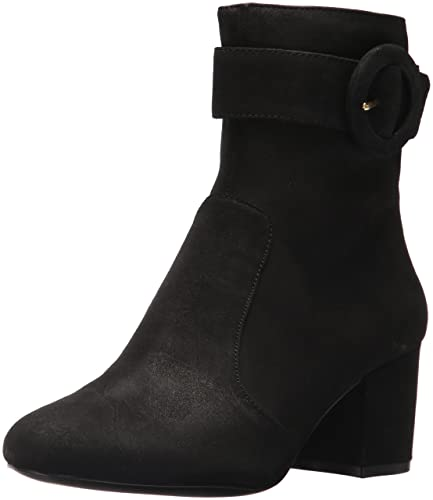 Nine West Womens Quilby Suede Ankle Boot Black 10 Medium US