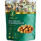 AZNUT Raw Hazelnuts Natural Non-GMO, Premium Quality, Gluten-free, Kosher Resealable Bag Snack&Joy sweet crunchy taste, Healthy Snack (8 oz)