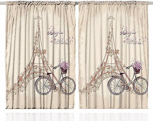 Ambesonne Paris Curtains Review