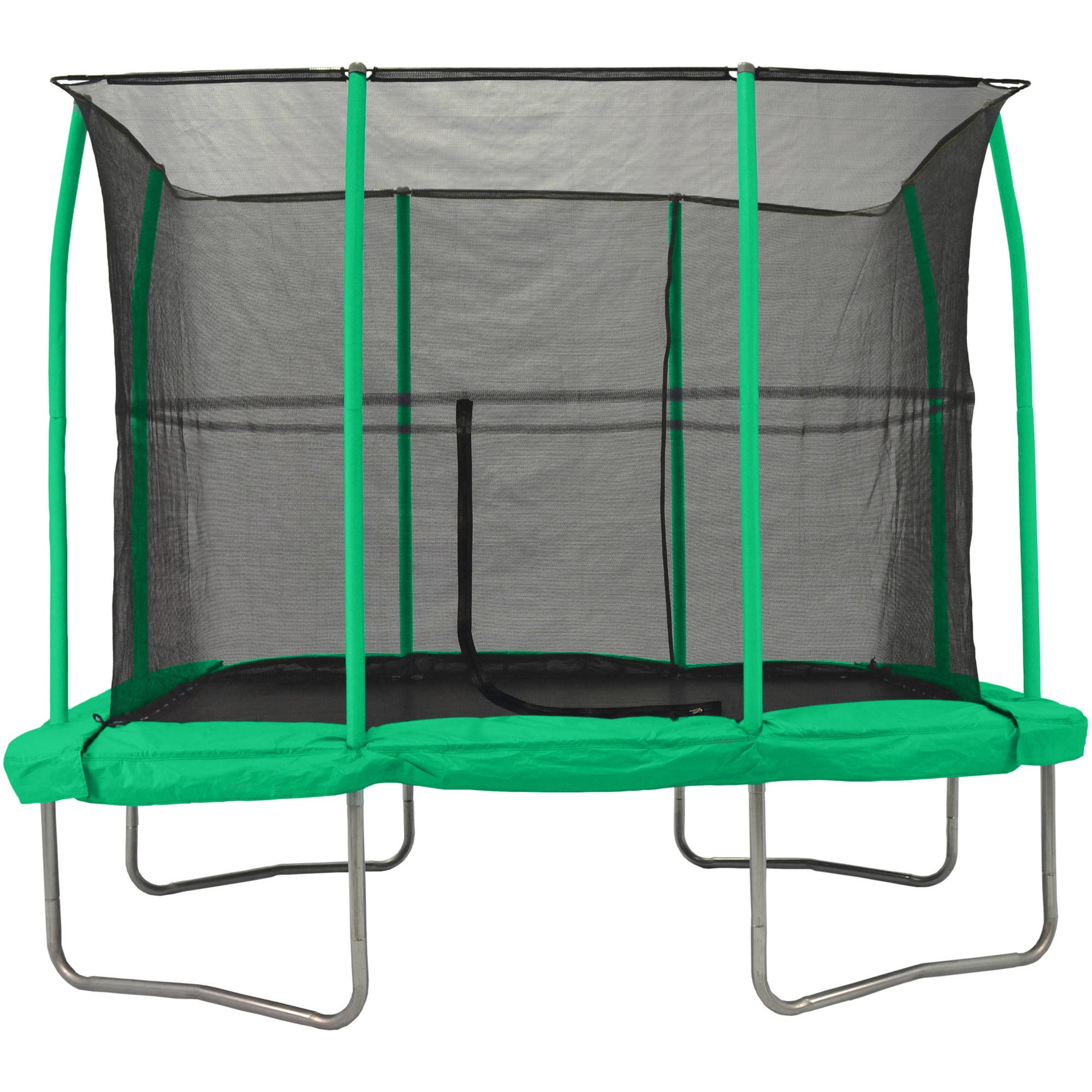 7' X 10' RECTANGULAR TRAMPOLINE with Fully integarated enclosure system, Green by Unknown (Image #1)