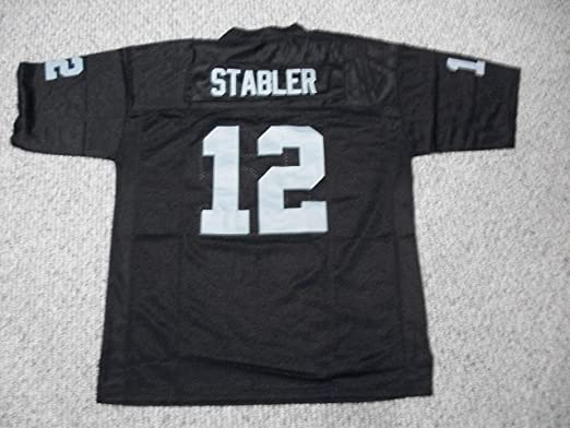 Unsigned Ken Stabler #12 Los Angeles Custom Stitched Black Football Jersey Various Sizes New No Brands/Logos