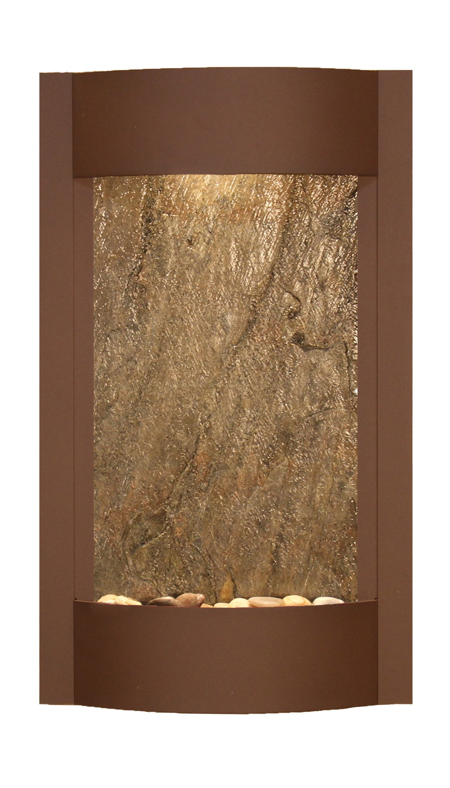Serene Waters Water Feature with Green FeatherStone (Woodland Brown)