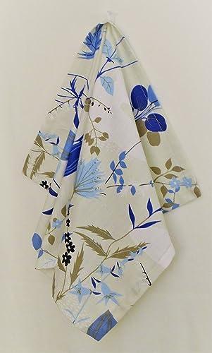 d095321bb613 Geschirrtuch Küche Geschirrtuch Dekor mit blauen Blumenmuster 100%  Baumwolle Leinen