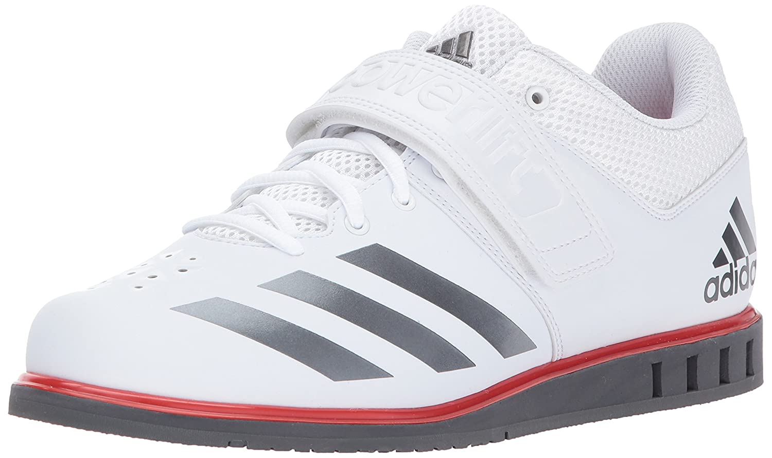 White Night Metallic Grey Five adidas Powerlift.3.1 shoes Men's Weightlifting