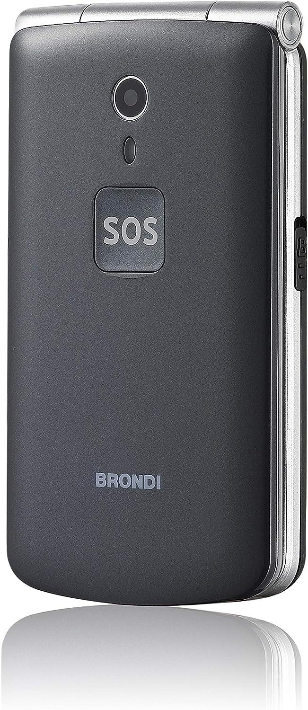 Brondi Amico N°Uno 108g Titanio Teléfono para Personas Mayores ...