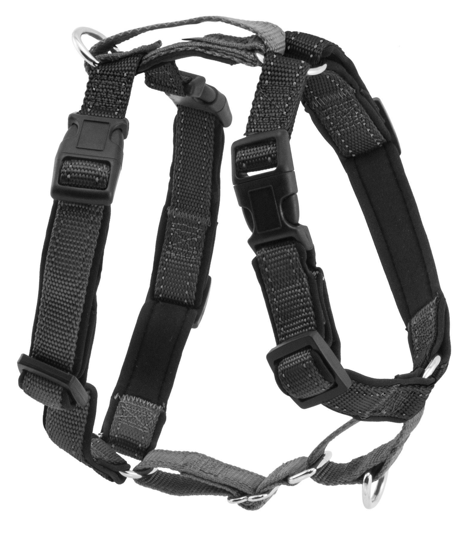 PetSafe 3 in 1 Harness and Car Restraint, Extra Small, Black, No Pull, Adjustable, Training for Small/Medium/Large Dogs