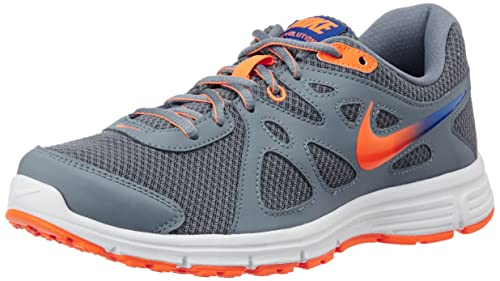 online retailer 3bfc3 a5bc3 Nike Mens Black, Grey and Total Orange Revolution 2 Msl Running Shoes - 9  UK