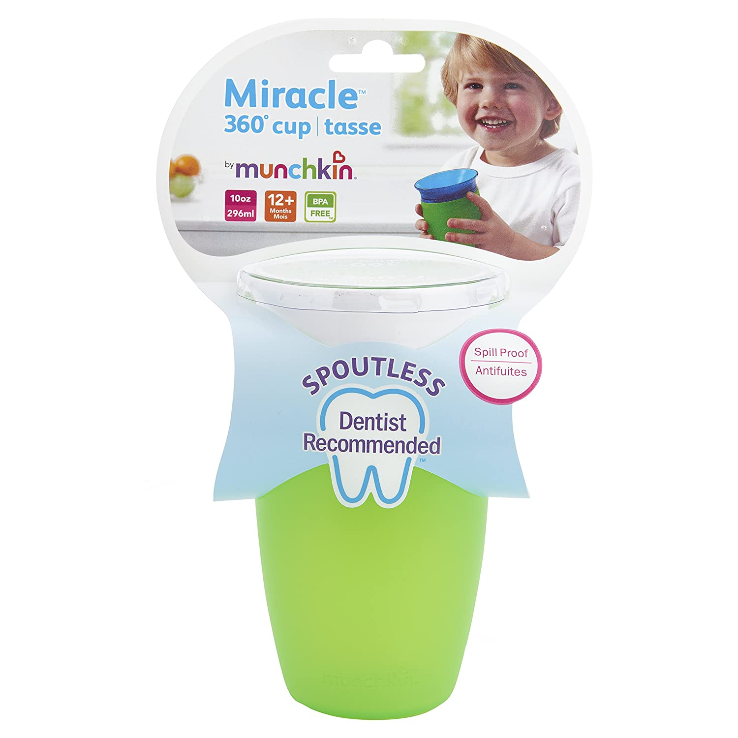 Munchkin Miracle 360-Degree 10 Oz Sippy Cup, (Colors May Vary) 44142