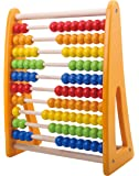 Pidoko Kids Classic Rainbow Wooden Number Abacus For Math - 123 Leaning Skills Educational Beads Toy - For Ages 2 and Up