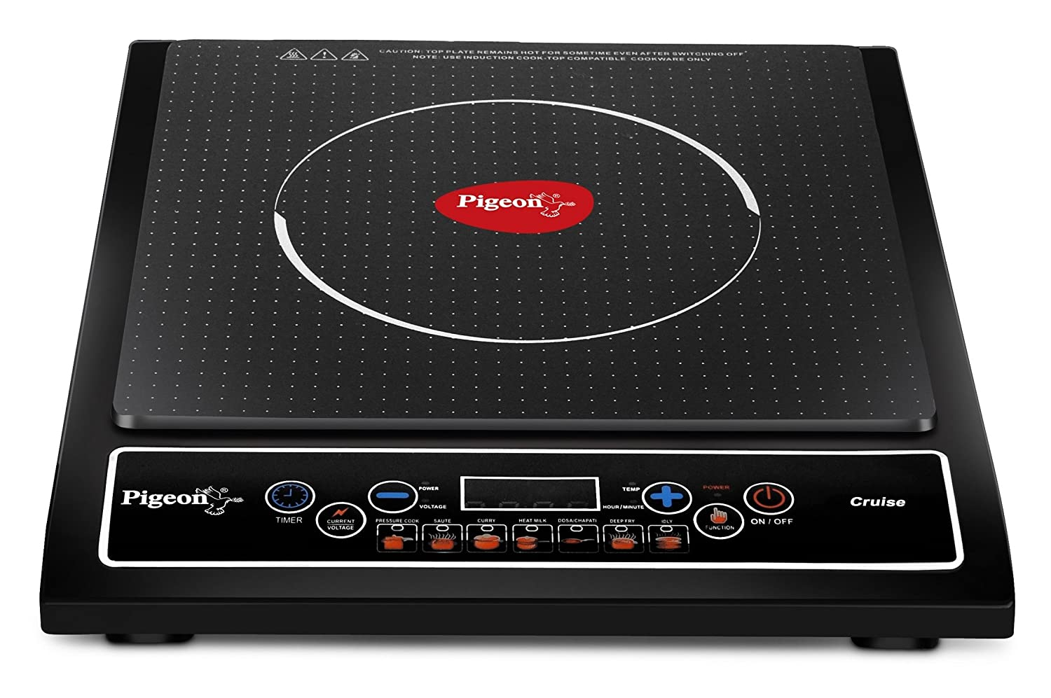 Pigeon Cruise 1800-Watt Induction Cooktop (Black)