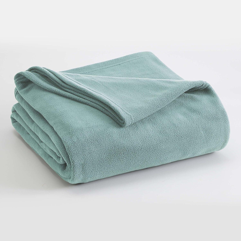 Vellux Microfleece Blanket, Full/Queen, Light Blue
