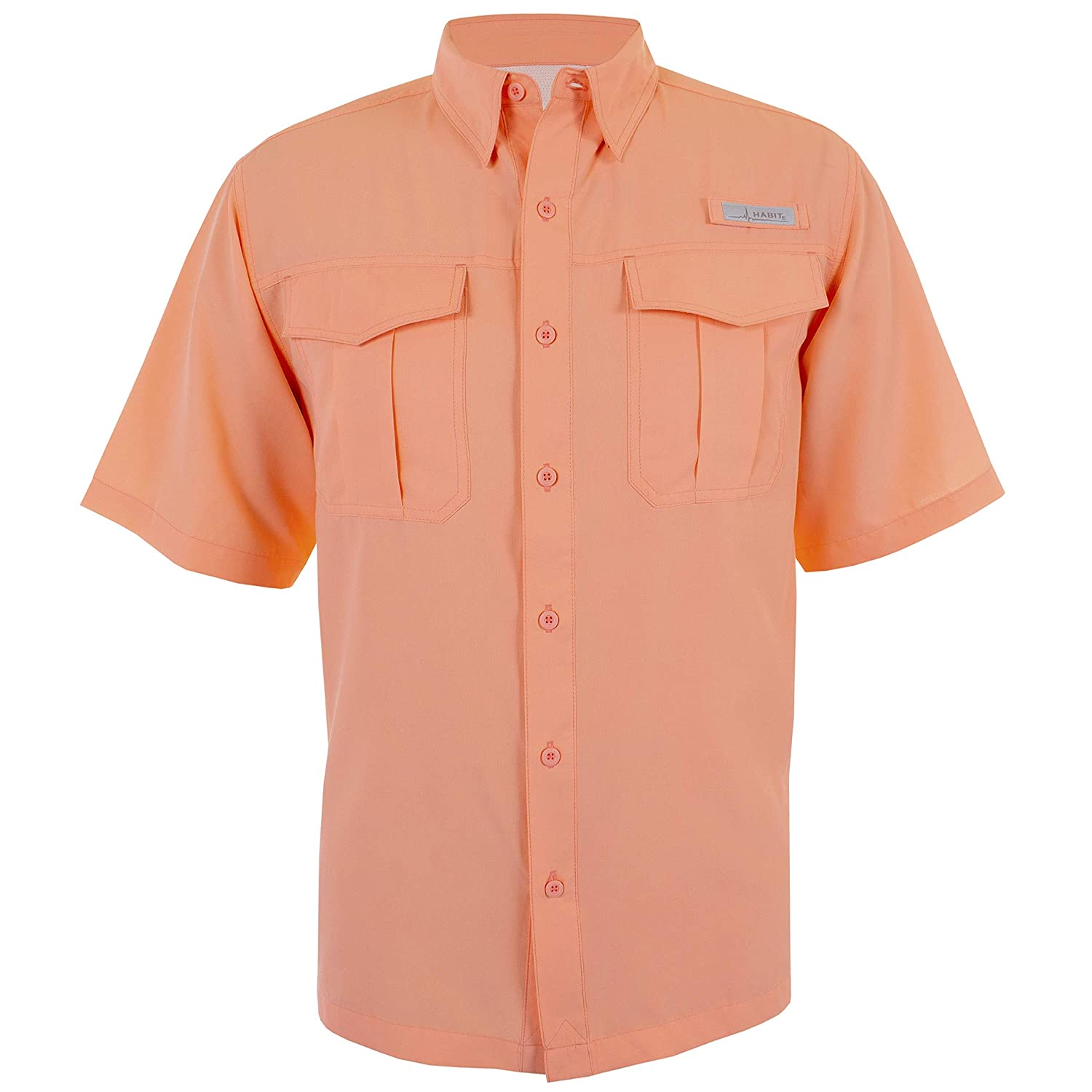 HABIT Mens Belcoast Short Sleeve River Guide Fishing Outdoor Recreation Casual Button-Down Shirts