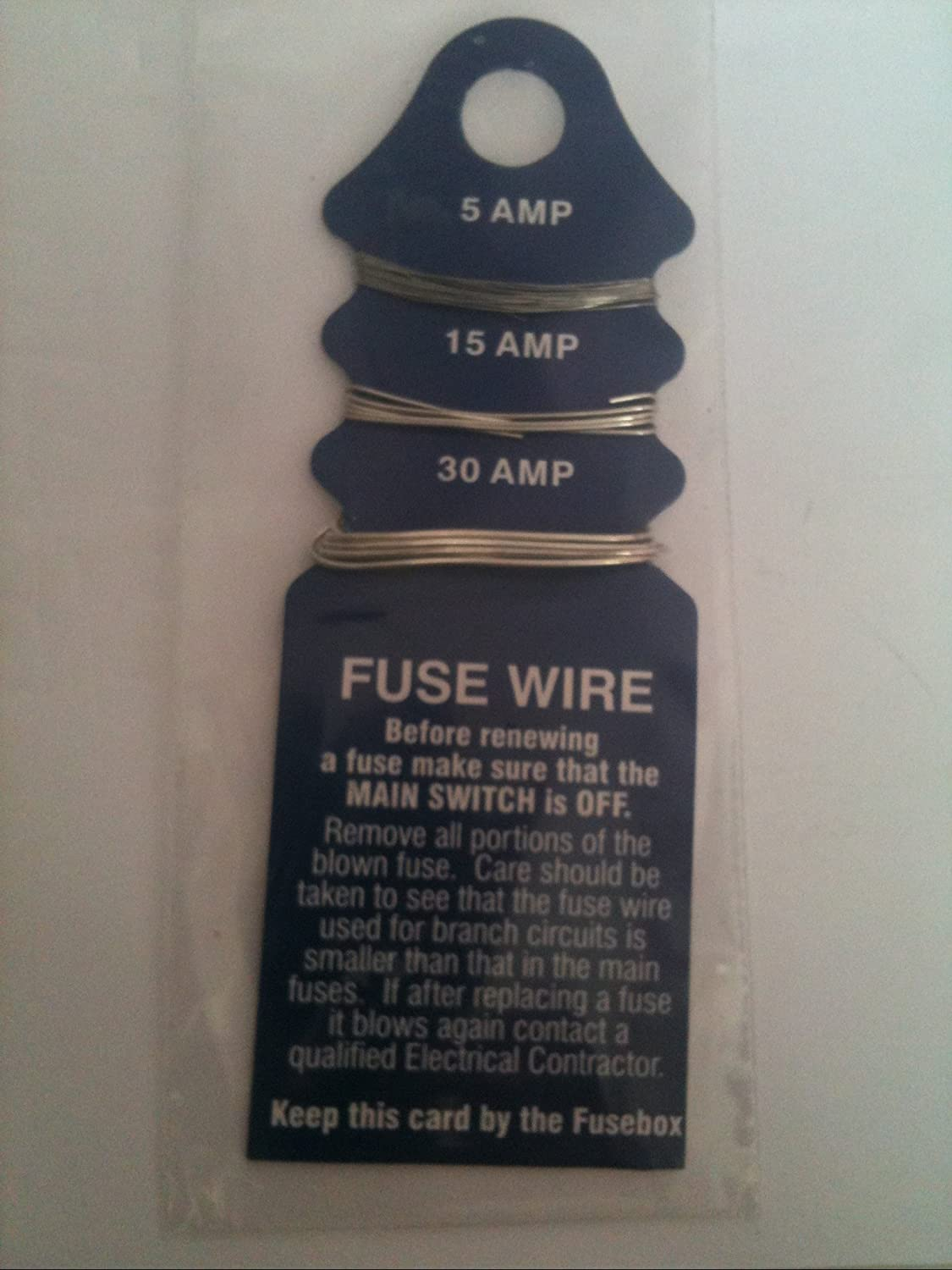 5,15,30amp. HOUSEHOLD FUSEWIRE