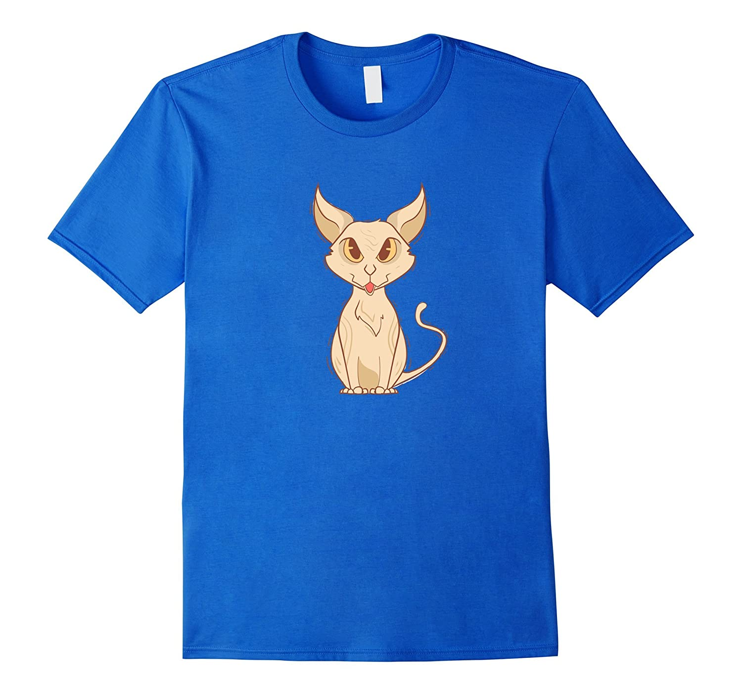 Angry Sphynx Cat Cartoon Kitten Lover National Cat Day Tee