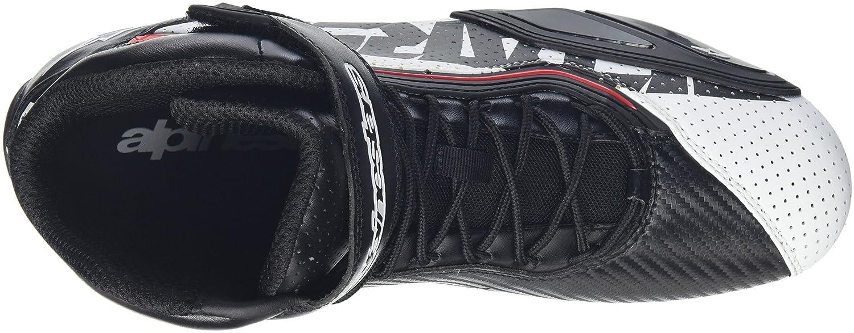Zapatos de moto para hombre Alpinestars Faster 2/Vented microfibra/ /Negro y rojo