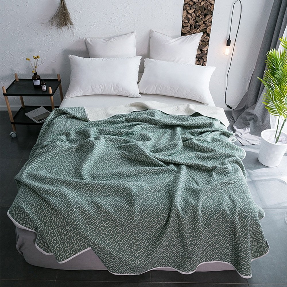 ZAYXB XRXY Cotton Knitting Washable Summer Quilt/Simple Ultra-thin Summer Air Conditioning Quilt/Student Dorm Room Lightweight Quilt (9 Colors Optional) (Color : G, Size : 150200CM)