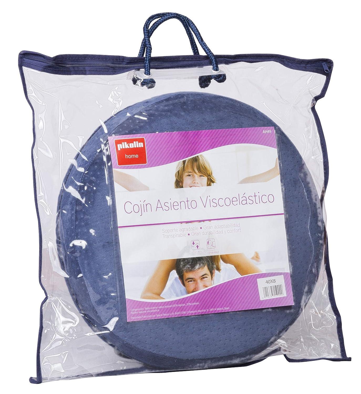 Pikolin Home - Cojín asiento de coxis, viscoelástico, 40x40cm, color azul