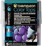 Chameleon Art Products Chameleon Color Tops, Cool Tones 5-Pen Set