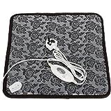 Imurz Waterproof Electric Heating Pad Heater Warmer Mat Bed Blanket Heating Pad for Dog Cat Bunny Pet 45×45CM +UK plug