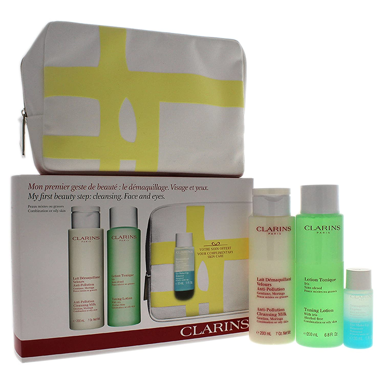 Clarins My First Beauty Step Cleansing Face and Eyes Gift Set, Combination or Oily Skin