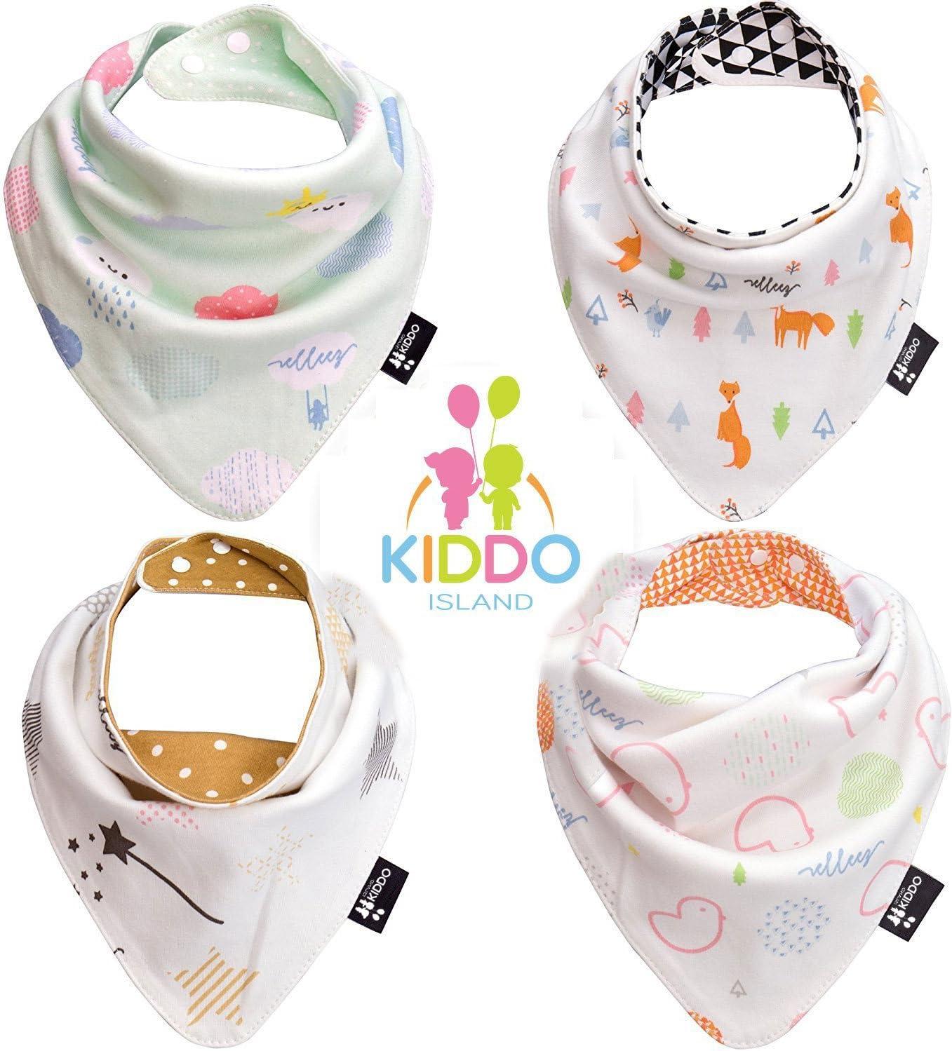 Bavoirs Baby Bandana Drool de couleur unie pour les bave et les dents 100/% coton biologique doux et absorbant Paquet de 10 pour b/éb/és gar/çons et filles
