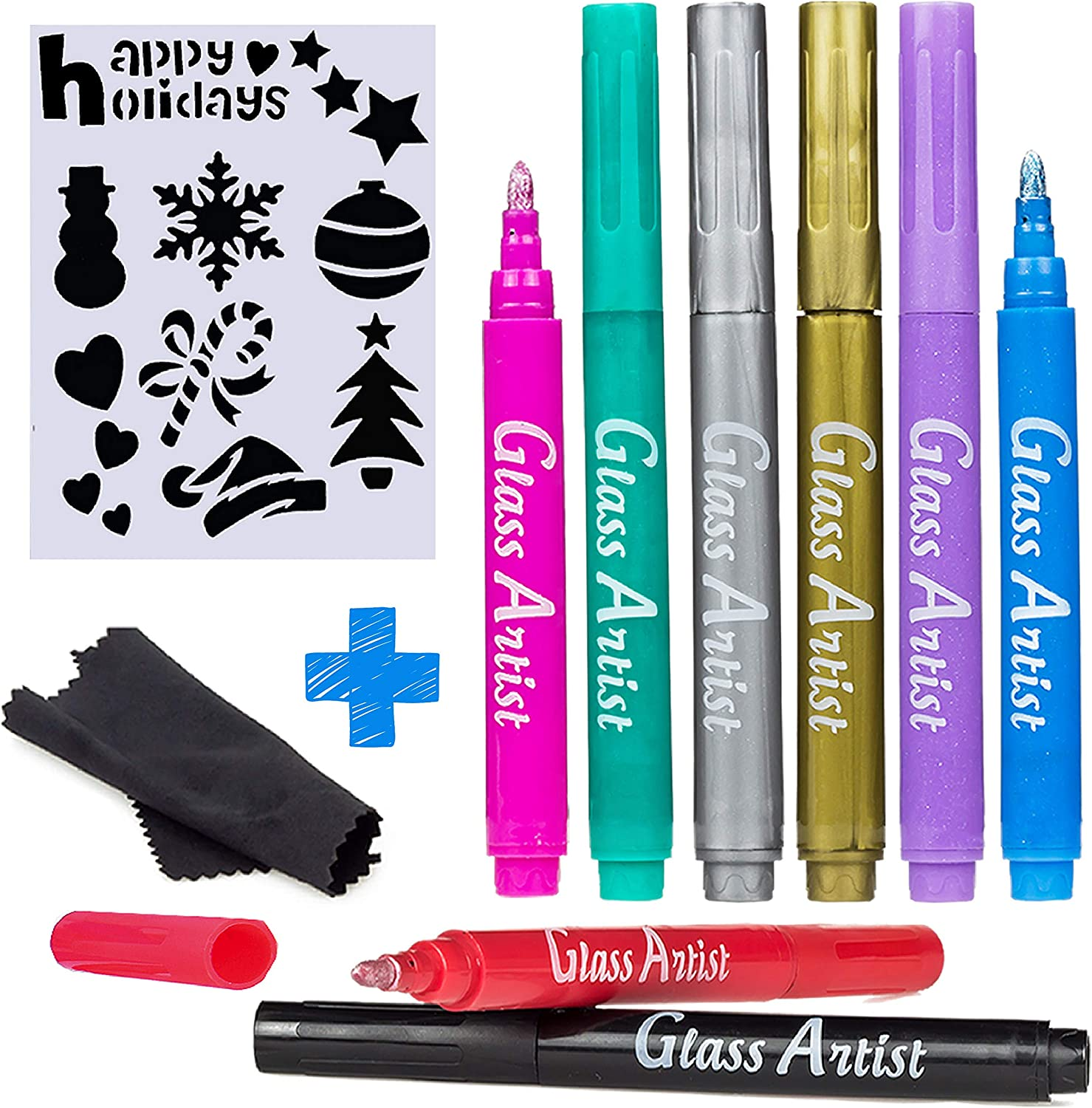 Christmas Festive Glass Marker 10 pack *** Free Postage***