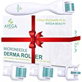 Derma Roller Kit for Face & Body: 0.25mm Length Microneedle Dermaroller Tool - Microneedling Facial Kits with 3…