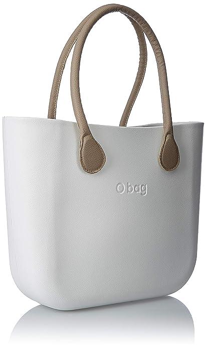 OBAG Mujer Bolso de mano Blanco Size: 14x31x39 cm (W x H x L): Amazon.es: Zapatos y complementos