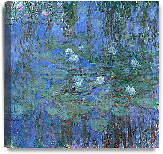 Monet-Water Lilies 2 Canvas Picture on Stretcher or Poster Print